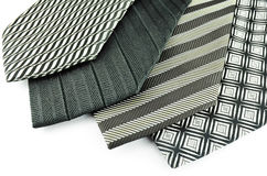 Black neck ties  Royalty Free Stock Photography