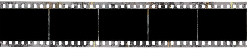Black negative film Stock Photo