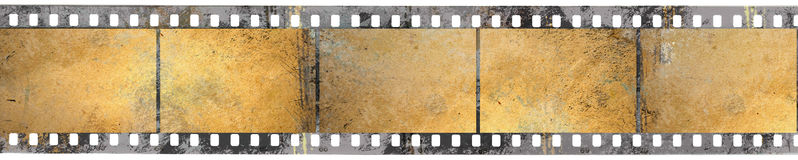 Black negative film. In grunge style Royalty Free Stock Photos