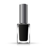 Black neil polish  on white. Vector illustration Royalty Free Stock Photos