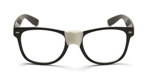 Black Nerd Glasses stock photography