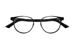 Black nerd glasses isolated on white Stock Photos