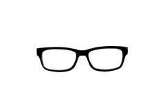 Black nerd glasses isolated on white Royalty Free Stock Photo