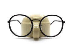 Black nerd glasses isolated on white Stock Photos