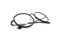 Black nerd glasses isolated on white Stock Images