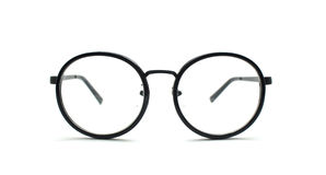 Black nerd glasses isolated on white Stock Photography