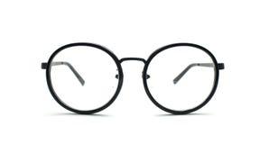 Black nerd glasses isolated on white Stock Photography