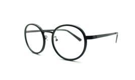 Black nerd glasses isolated on white Royalty Free Stock Photos