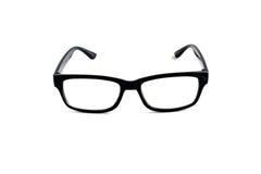 Black nerd glasses on white Royalty Free Stock Photos