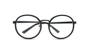 Black nerd glasses  on white Stock Photos