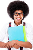 Black nerd student Stock Photo