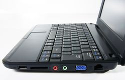 Black netbook Stock Photos