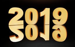 Black 2019 new year background. Festive shiny decoration. vector illustration