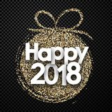 Black 2018 New Year card. Royalty Free Stock Photos