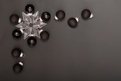 Black  New Years  decorations Stock Photos