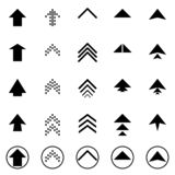 Black next up arrows set digital symbol pointer icons logo sign button collection. EPS 10 modern flat simple cursor vector royalty free illustration