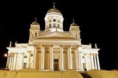 Black Night in Helsinki Stock Images
