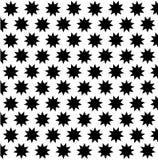 Black nine pointed star on white background Stock Photos