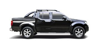 Black Nissan Navara Stock Photo