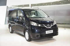 Black nissan nv200 car Stock Photo