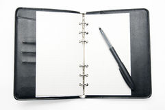 The black note book Stock Image