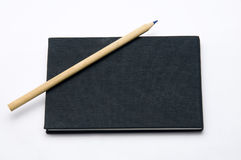 The black note book Royalty Free Stock Photos