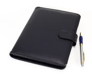Black note book and pen Royalty Free Stock Photography