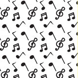 Black note music pattern vector Royalty Free Stock Image