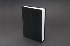Black Notebook. Small black notebook with blank cover Royalty Free Stock Photo