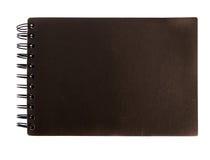 Black notebook. On white background Stock Photos