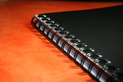 Black Notebook Royalty Free Stock Photo