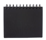Black notebook isolated Royalty Free Stock Images