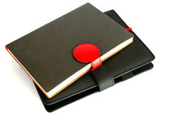 Black notebook isolated on white background, conservation concep Royalty Free Stock Photography