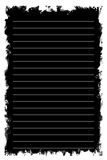 Black notebook paper on white background. Stock Images