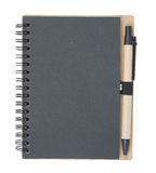 Black Notebook and pen on white background Stock Photo
