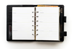 Black notebook and pen Royalty Free Stock Photo