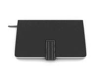 Black notebook on a white background. 3d illustration Royalty Free Stock Photos