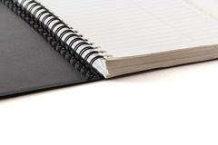 Black notebook on a white background Royalty Free Stock Images