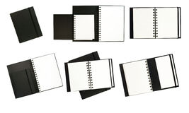 Black notebooks Stock Images