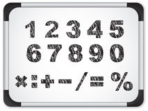 Black Numbers on Whiteboard Royalty Free Stock Image