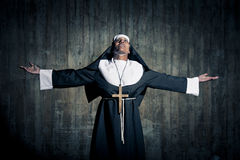 Black nun Stock Images