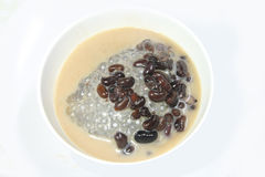 Black nut and sticky rice in coconut milk Royalty Free Stock Images
