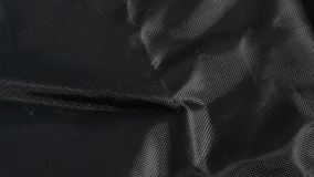 Black Nylon Fabric Background Texture, Large Detailed Textured. Closeup Pattern, Textile Copy Space stock video footage