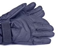 Black Nylon Gloves Stock Photo