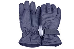 Black Nylon Gloves. A pair of black nylon gloves isolated on white Stock Photography