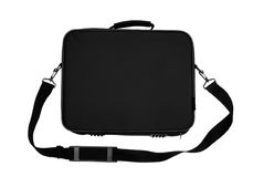 Black Nylon Laptop Carrying Case Royalty Free Stock Images