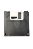Black obsolete diskette. Stock Photos