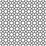 Black octagon shape pattern background Royalty Free Stock Photography