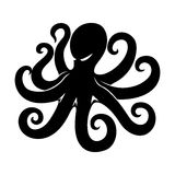 Black octopus sign. Stock Photo