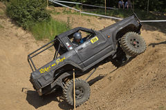 Black off road car Royalty Free Stock Images